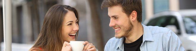 conversación estimulante con una mujer